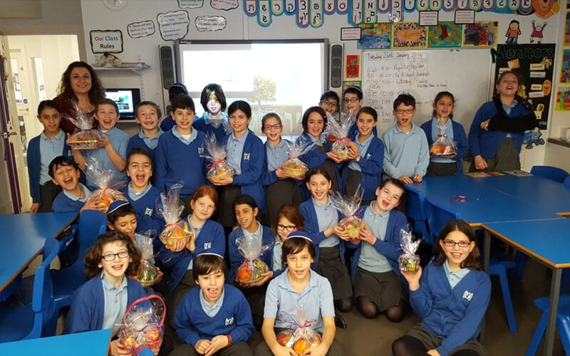 Year 5 Sacks Morasha pupils marking Tu B'shvat
