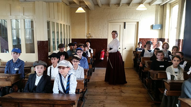 Sacks Morasha pupils at The Ragged School Museum