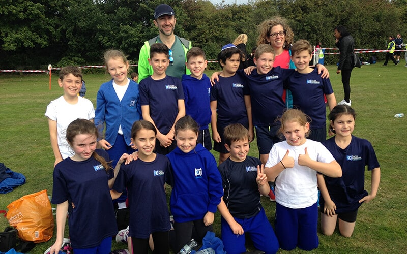 Sacks Morasha pupils at Barnet Cross Country Championships