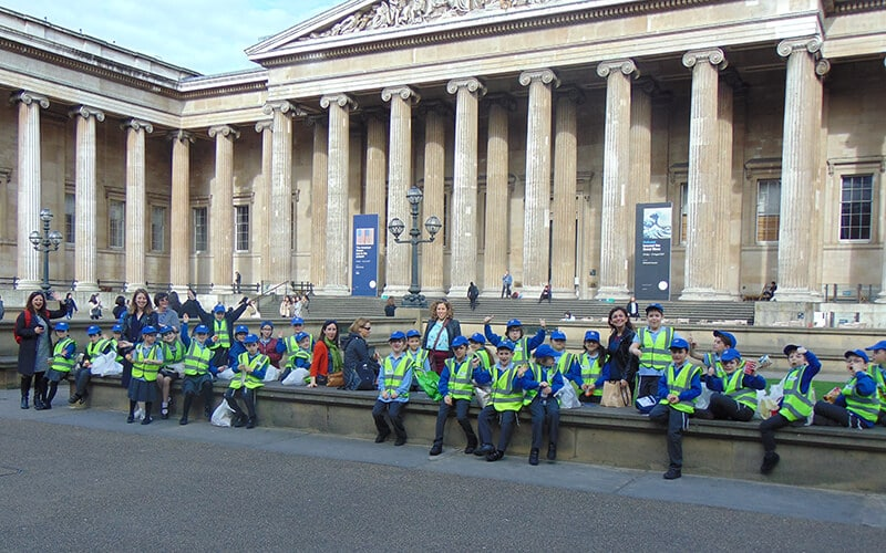 Year 3 pupils at the British Museum