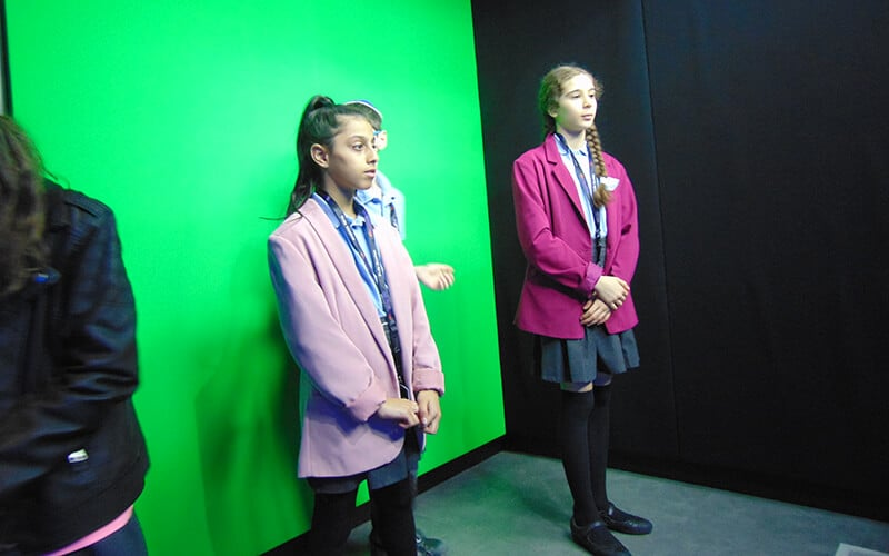 Year 6 pupils visiting Sky Studios