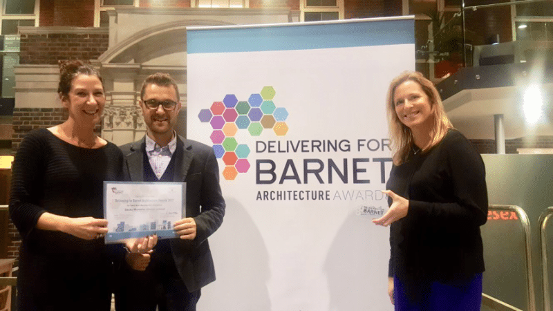 Architects with Barnet award