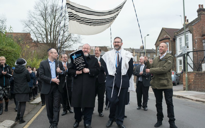 Chief Rabbi Mirvis with Sefer Torah