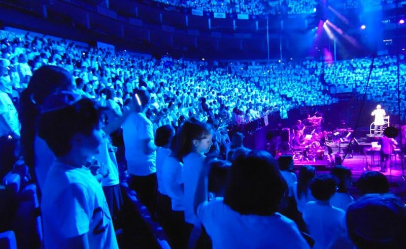 Young Voices Choir in the O2 Arena
