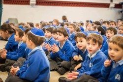 Pupils at Sacks Morasha Jewish Primary School