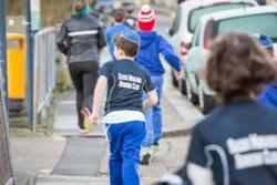 Pupils out training with Sacks Morasha Running Club